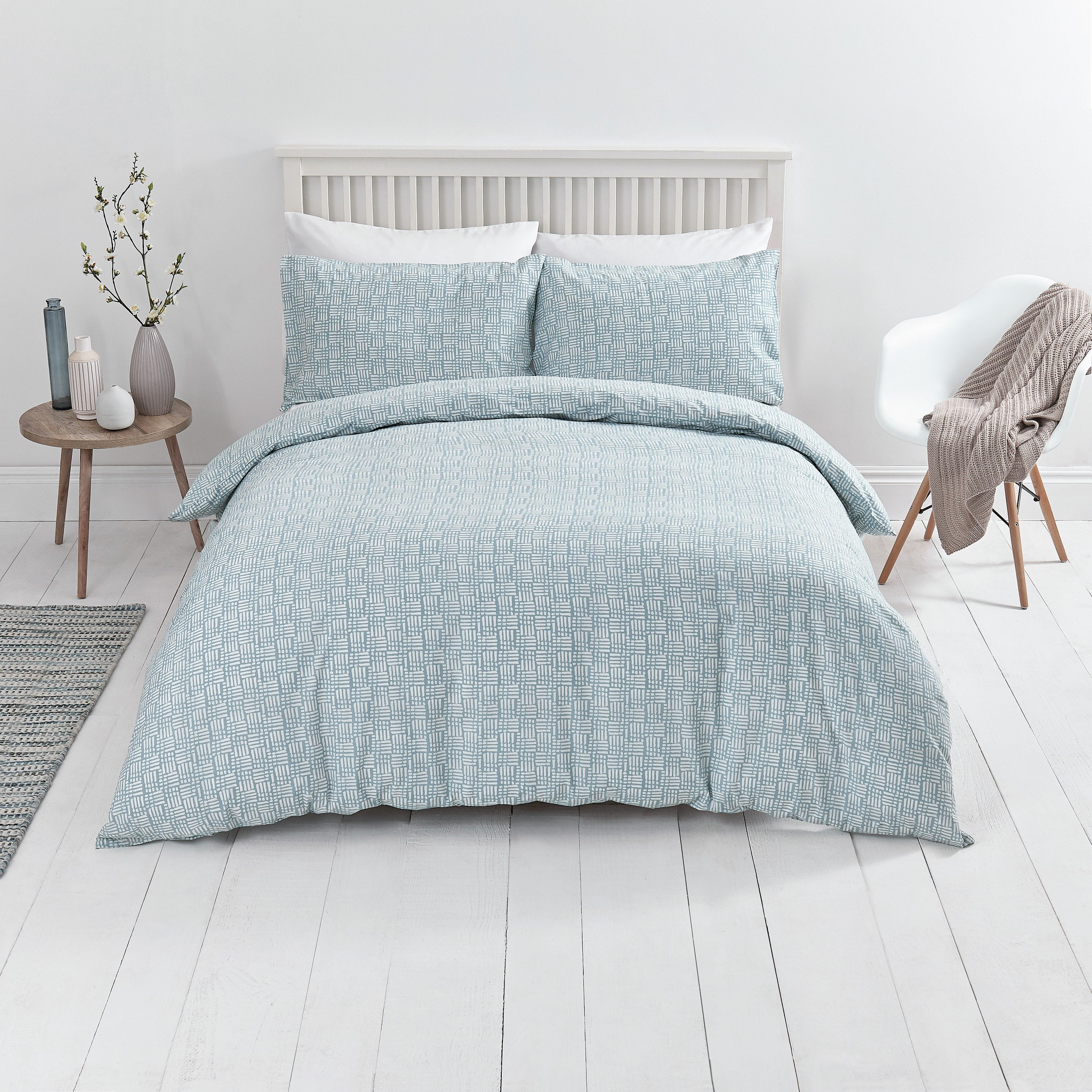 Sale On Sainsbury S Home Blue Nordic Sky Duvet Cover Set
