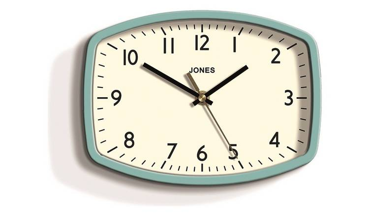 Buy Jones Sketch Retro Wall Clock - Blue | Clocks | Argos