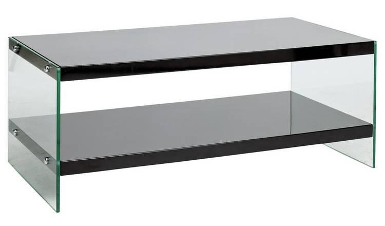 Buy Argos Home Kaspa Coffee Table Black Gloss Glass Coffee Tables Argos