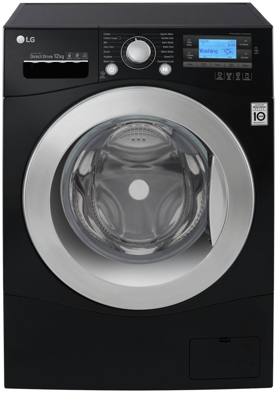 LG FH495BDN8 12KG 1400 Spin Washing Machine - Black