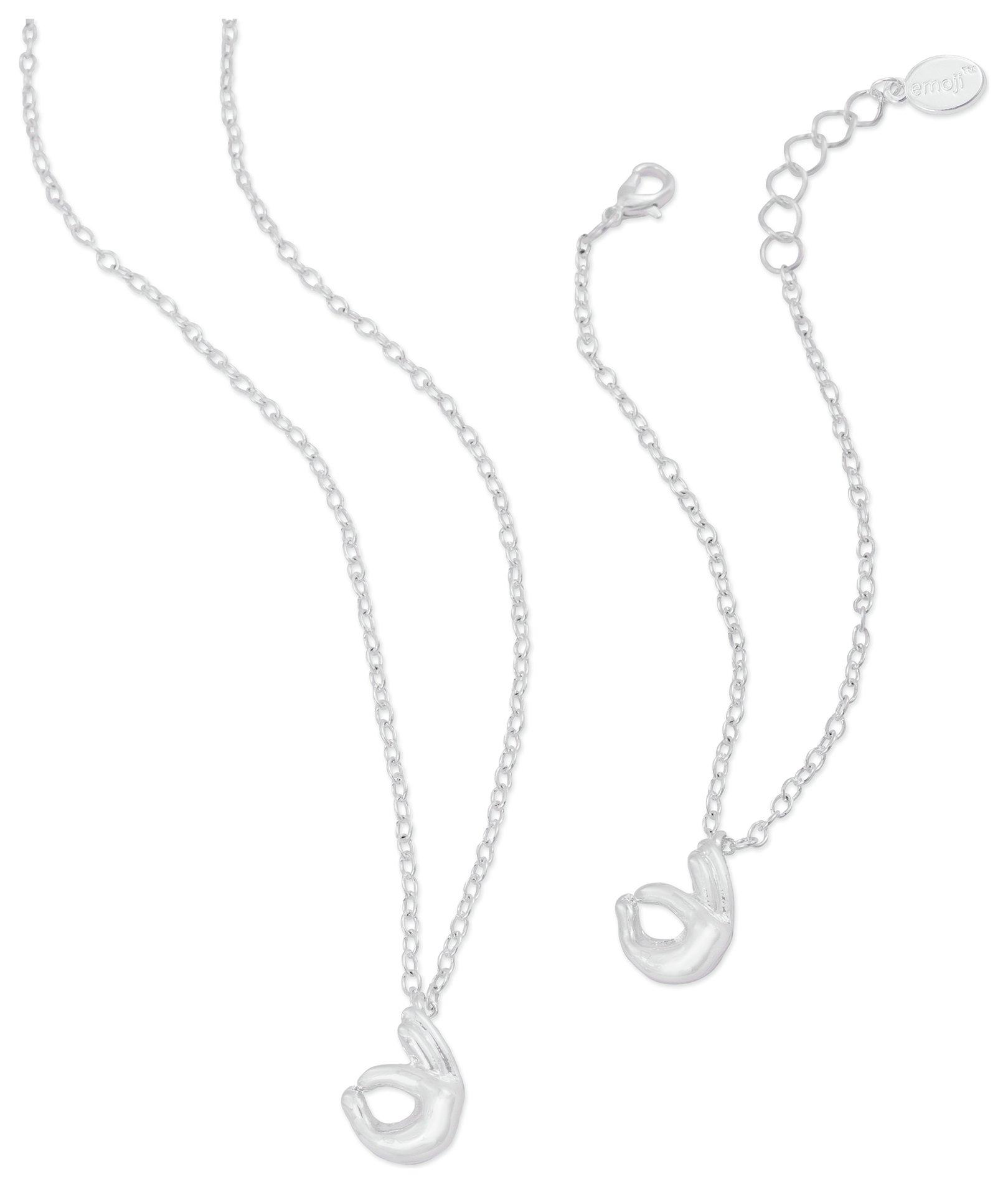 Image of Emoji OK Pendant and Bracelet Set
