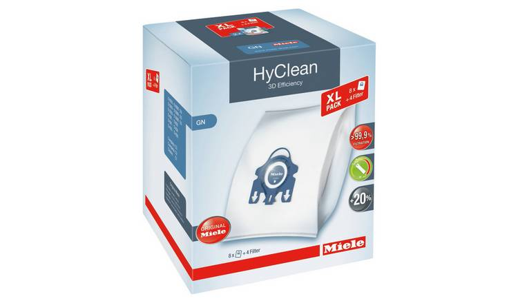 Miele GN Hyclean 3D Efficiency Dust Bags - Pack of 8