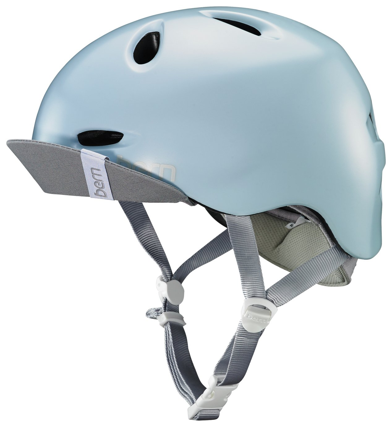Image of Bern Berkeley Women's Helmet with Visor - Sky Blue