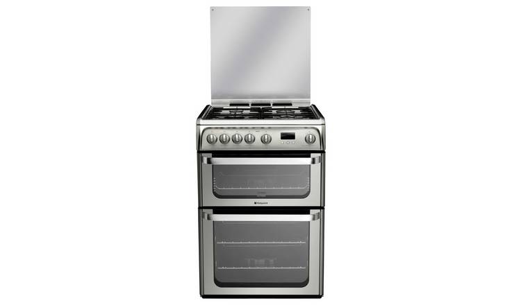 Hotpoint Ultima HUG61X 60cm Double Oven Gas Cooker - S/Steel