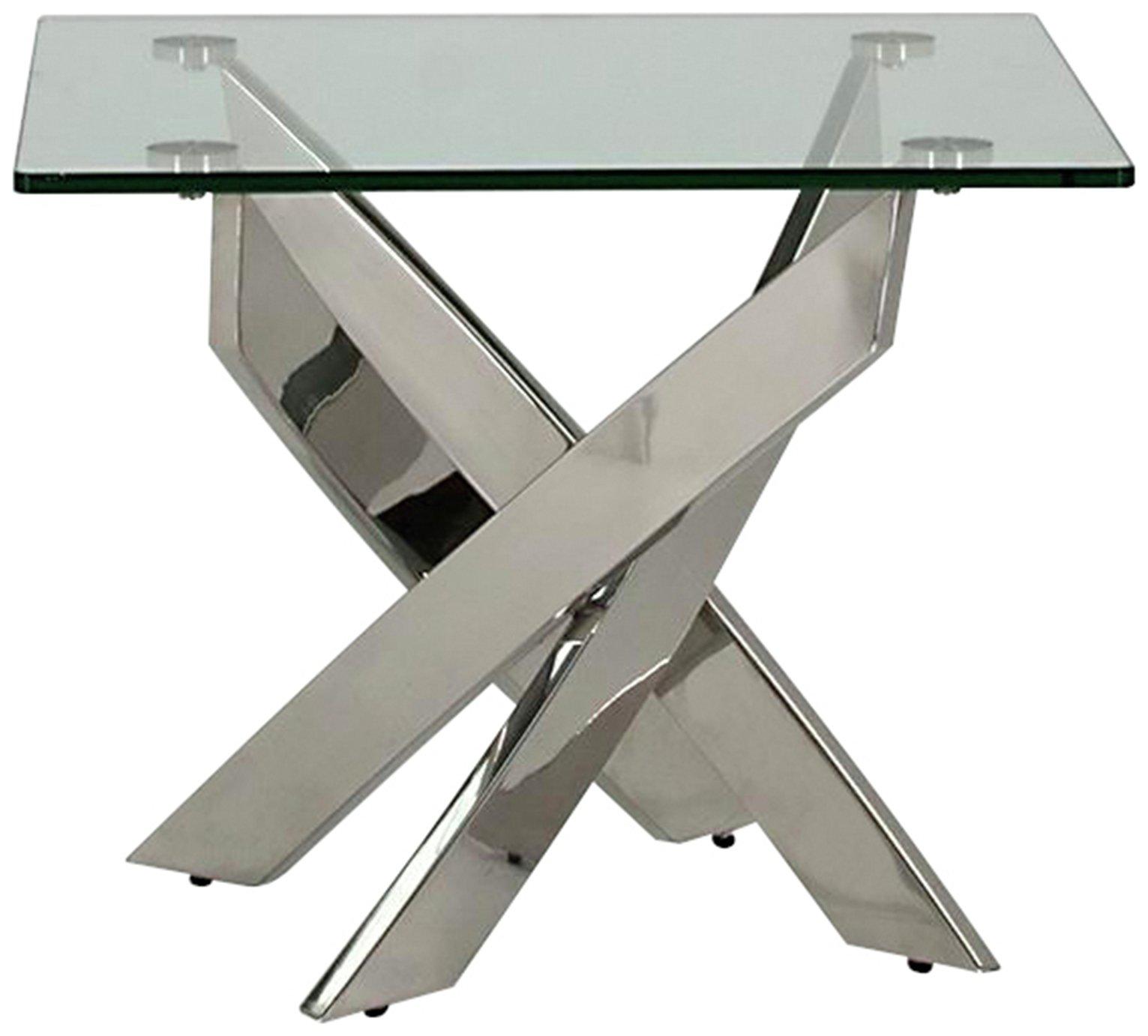 Image of Furnoko Kalmar Glass End Table - Clear