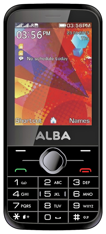 SIM Free Alba Mobile Phone - Black