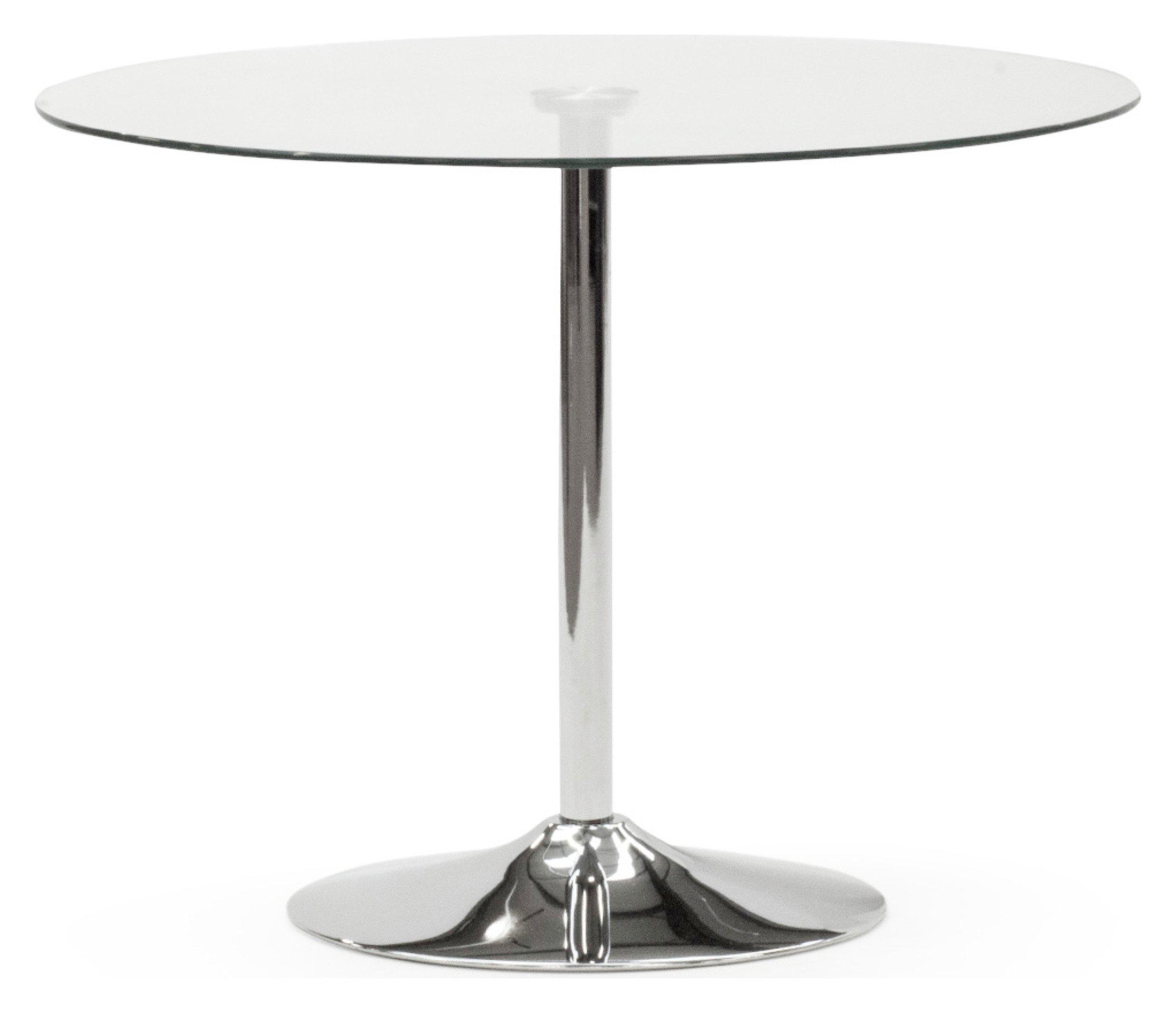 Furnoko Orbit Glass 4 Seater Table - Clear