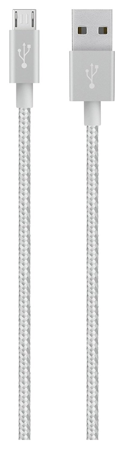 Image of Belkin - MIXIT Metallic Micro USB to USB 12m Cable - Silver