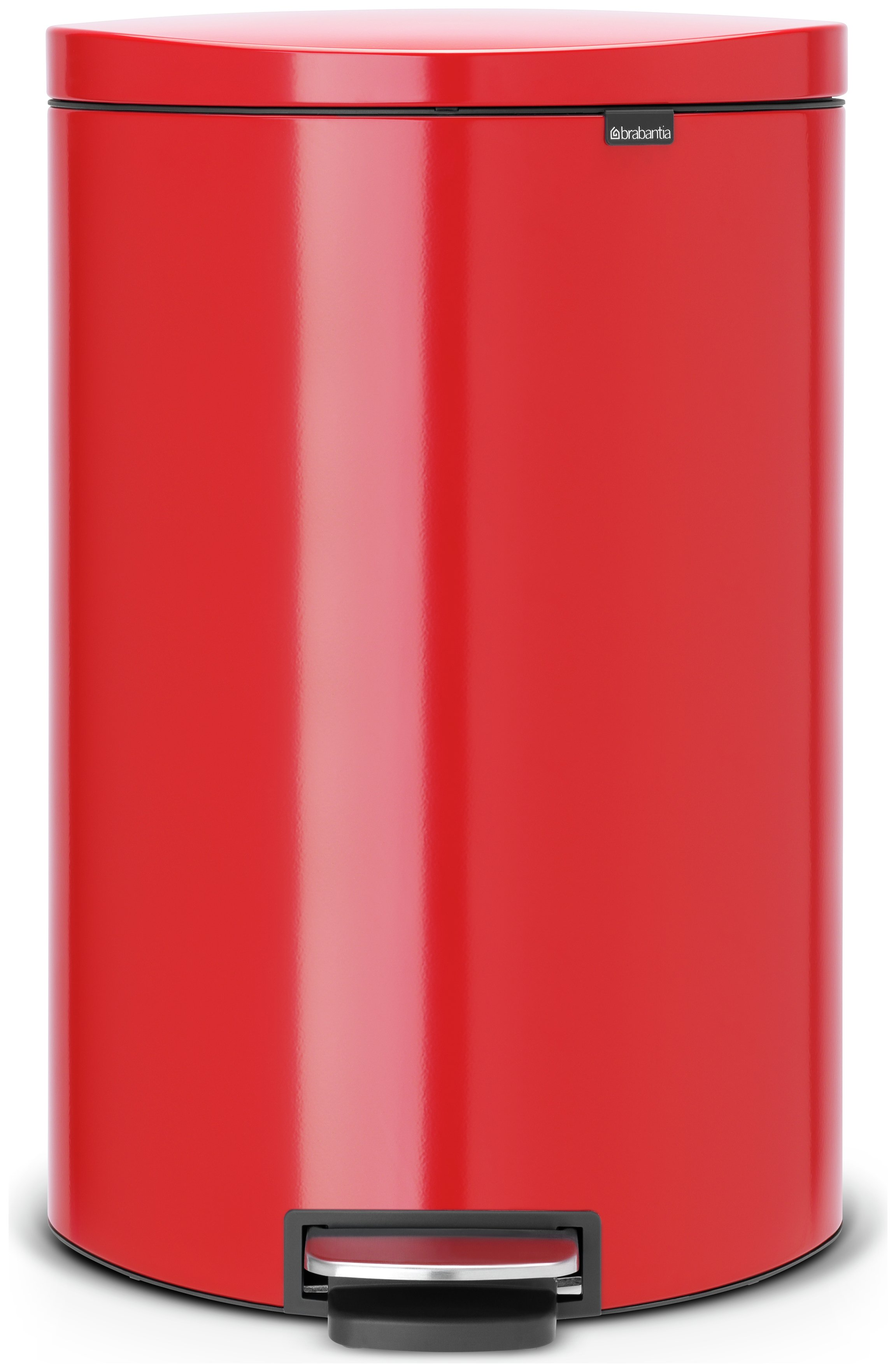 Brabantia 40 Litre Flat Back Pedal Bin - Passion Red