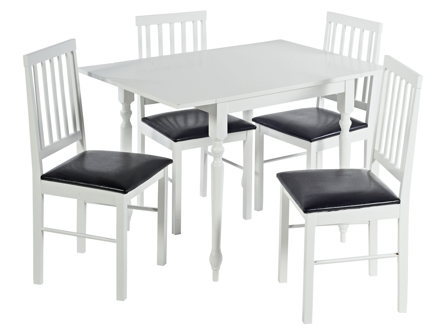 argos home orton spindle drop leaf table 4 chairs. Black Bedroom Furniture Sets. Home Design Ideas