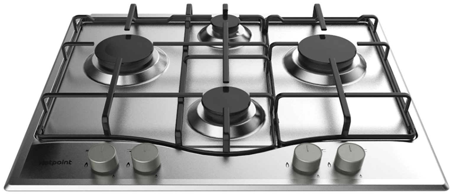 Hotpoint PCN642XH Gas Hob - Stainless Steel