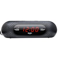 Bush USB FM Alarm Clock Radio - Black