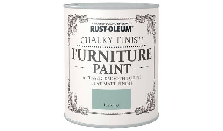 Rust-Oleum Chalky Furniture Paint 750ml - Matt Duck Egg Blue