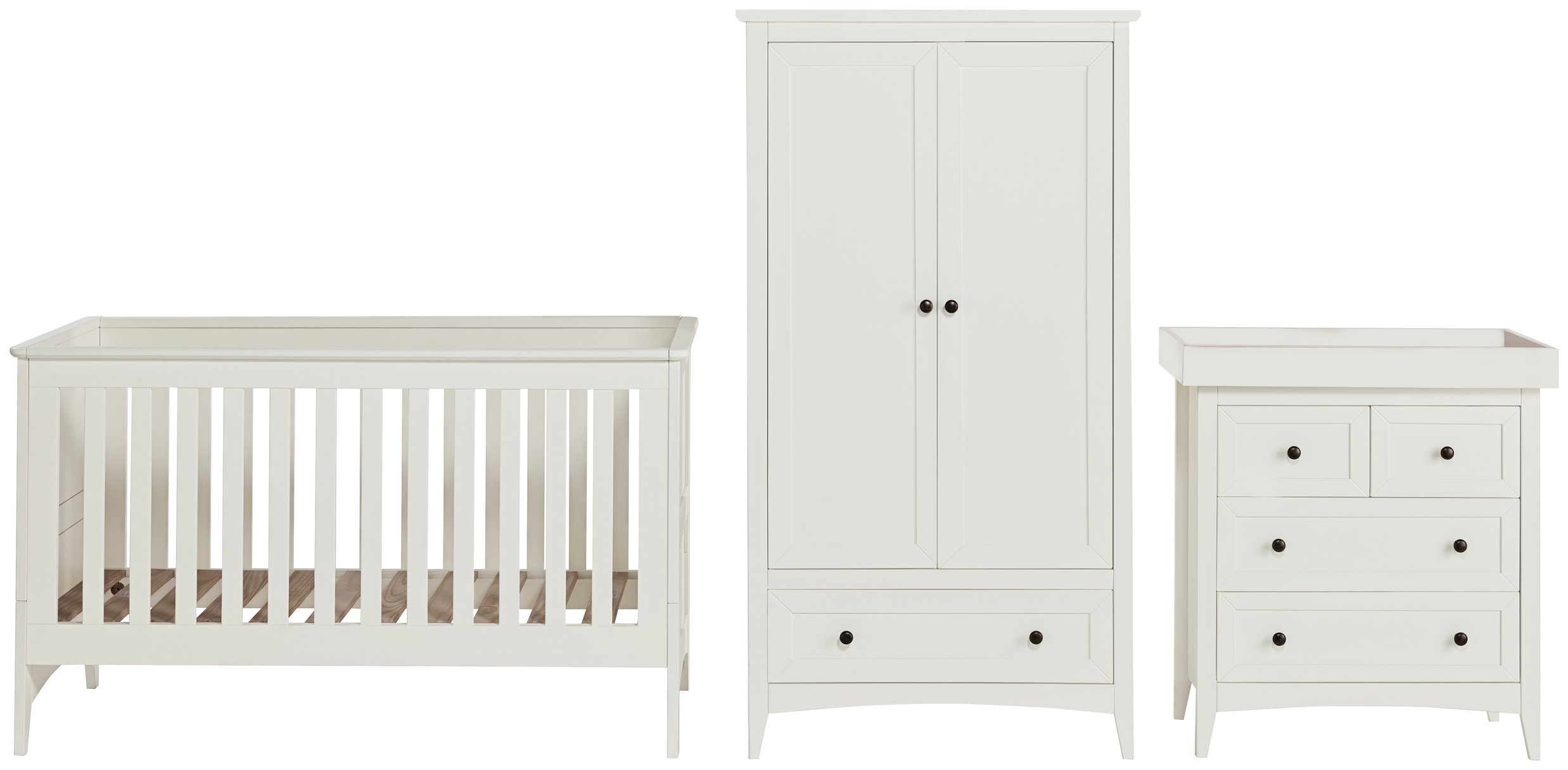 Cuggl Cambourne 3 Piece Set - White