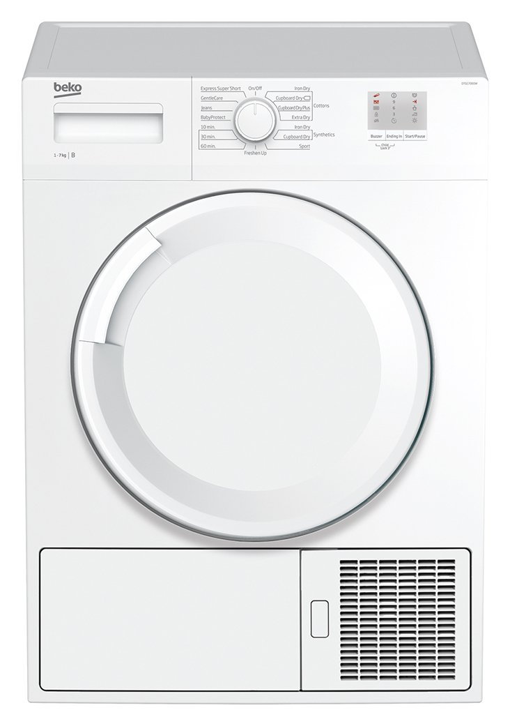Image of Beko DTGC7000W 7KG Condenser Tumble Dryer - White