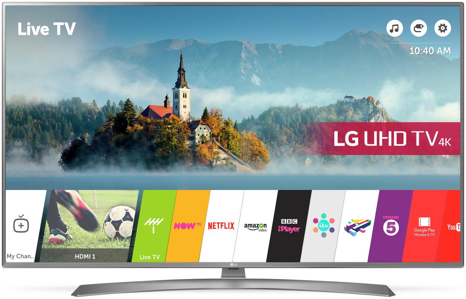 LG 65UJ670V 65 Inch Smart 4K Ultra HD TV with HDR.