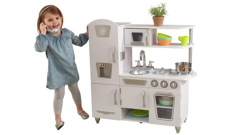 Buy Kidkraft Vintage Wooden Play Kitchen White Role Play Toys Argos