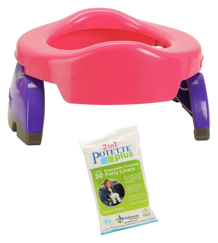 Potette and 30 Liners Pack - Pink & Purple