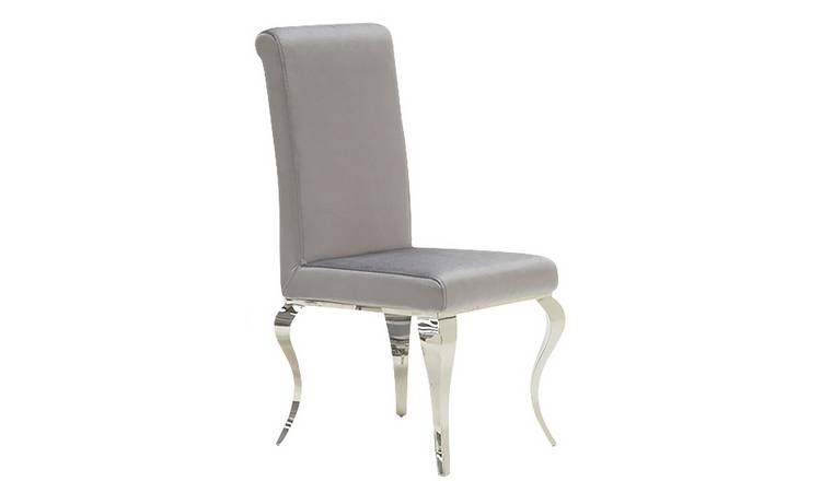 sports shoes 29a8a 17973 Buy Furnoko Louis Pair of Crushed Velvet Dining Chairs - Silver | Dining  chairs | Argos