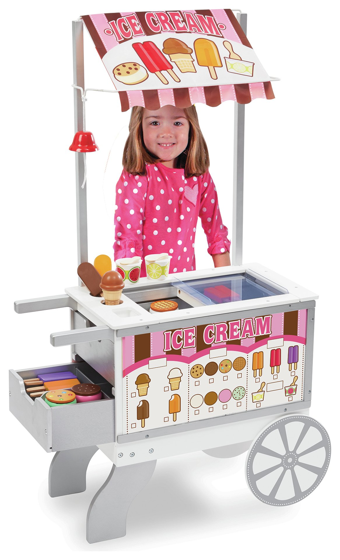 Melissa Doug Wooden Snacks Sweets Food Cart