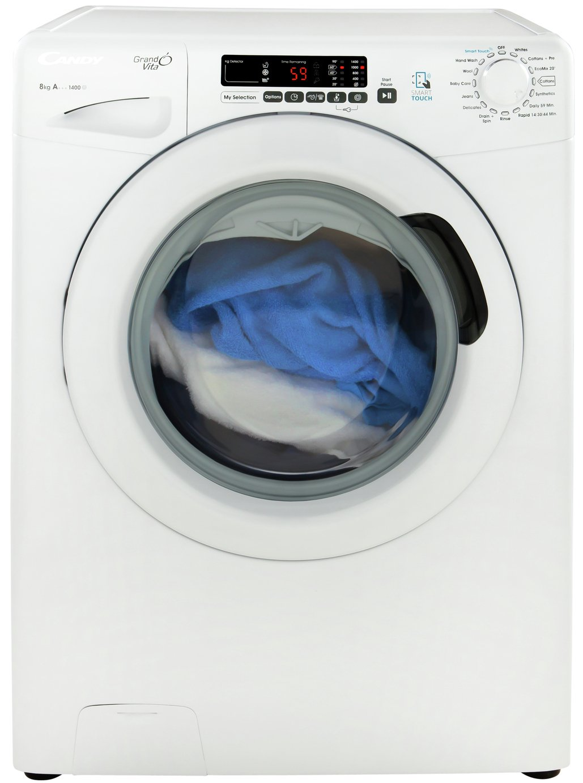 Candy GVS148D3 8KG 1400 Spin Washing Machine - White.