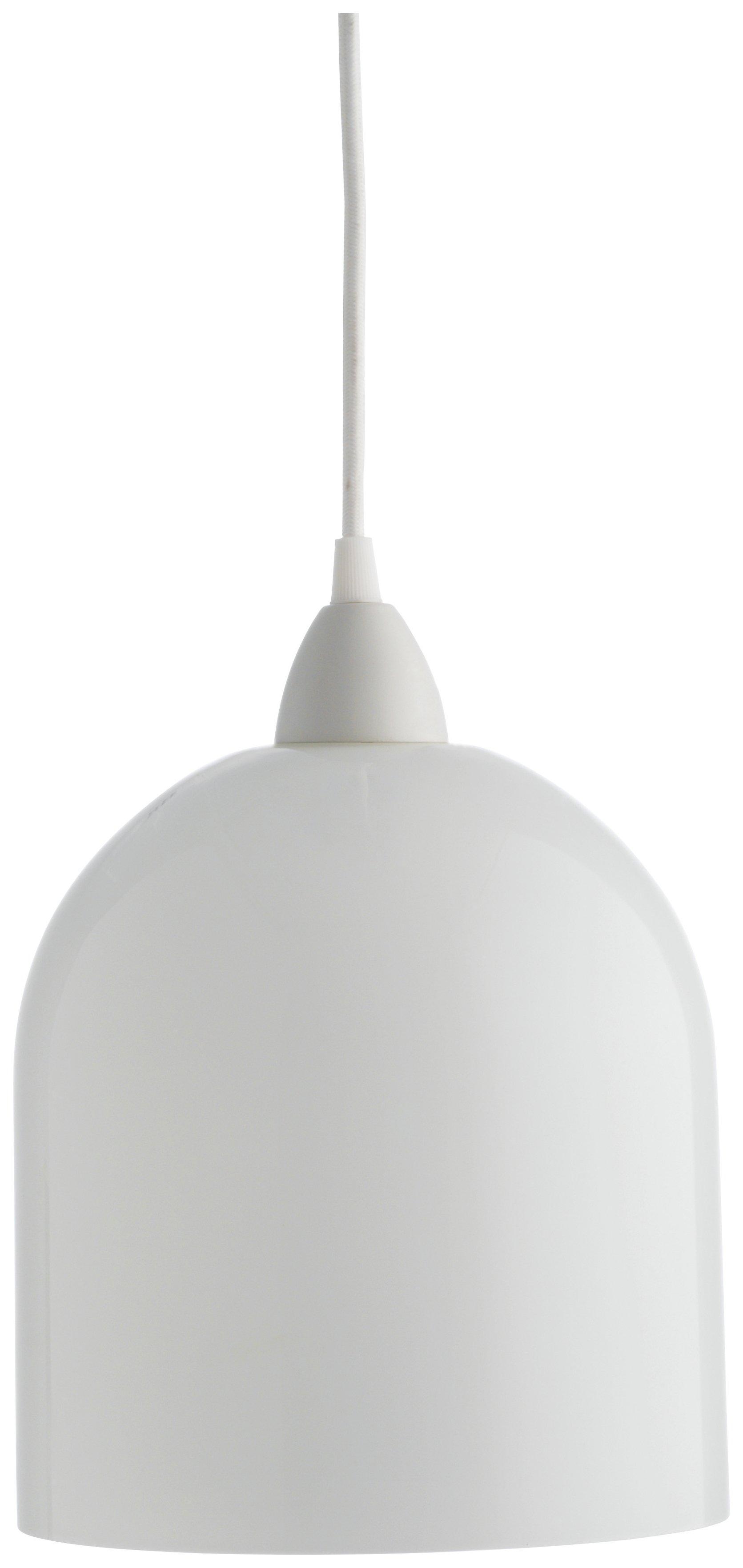 Habitat Liv Glass Pendant Lampshade - White