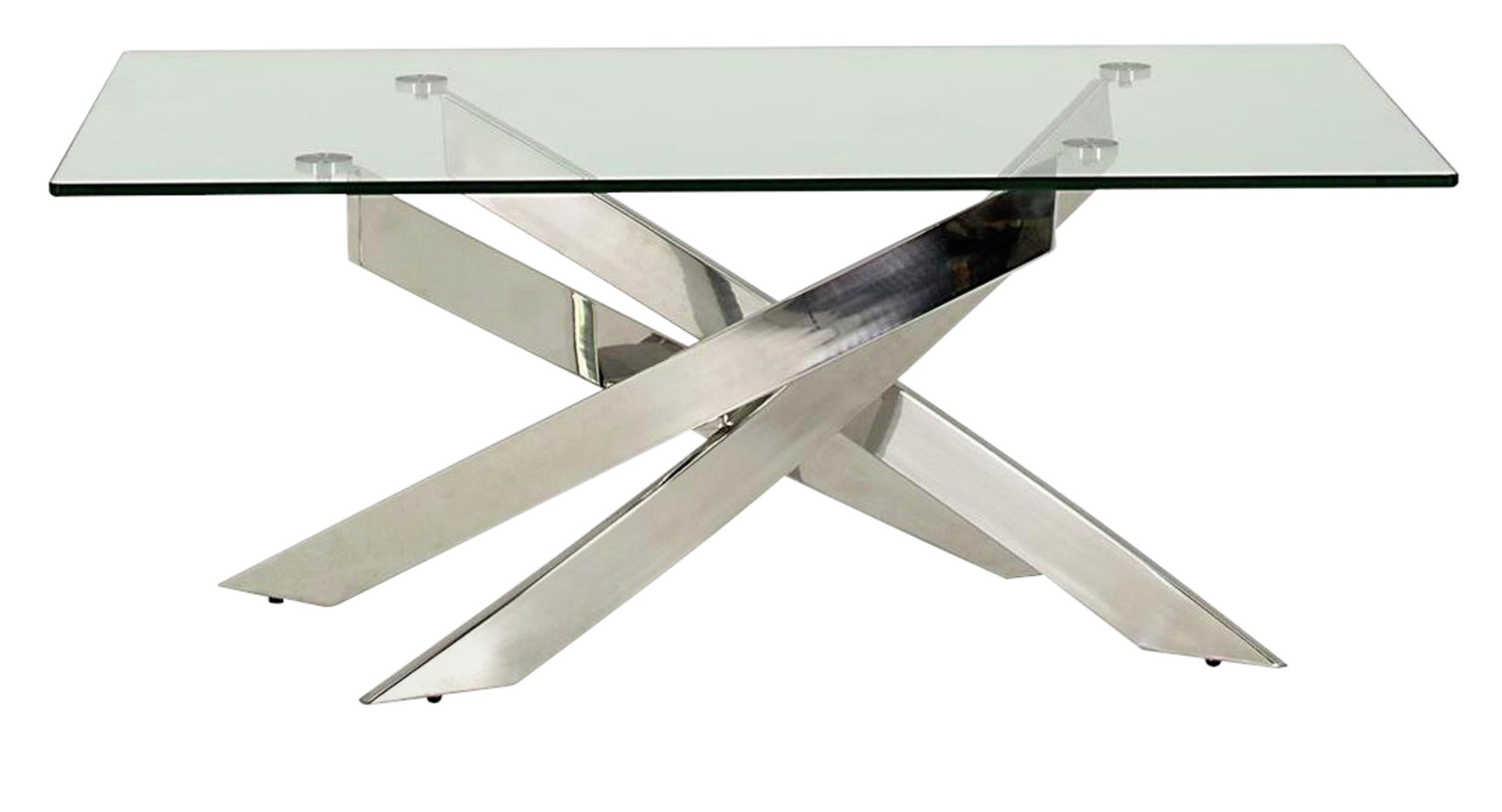 Image of Furnoko Kalmar Glass Coffee Table - Clear
