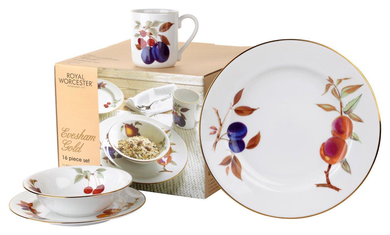 Royal Worcester Evesham Gold 16 Piece Dinner Set