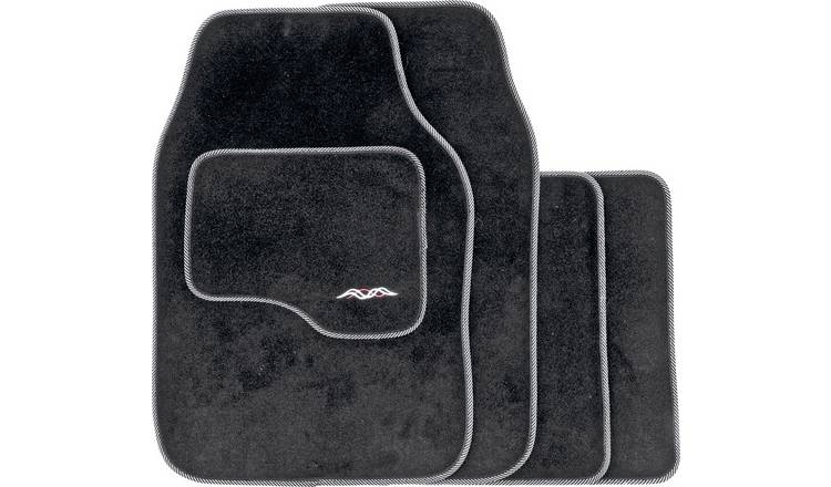 Buy Deep Pile Universal Carpet Super Deluxe Car Mats Black Car