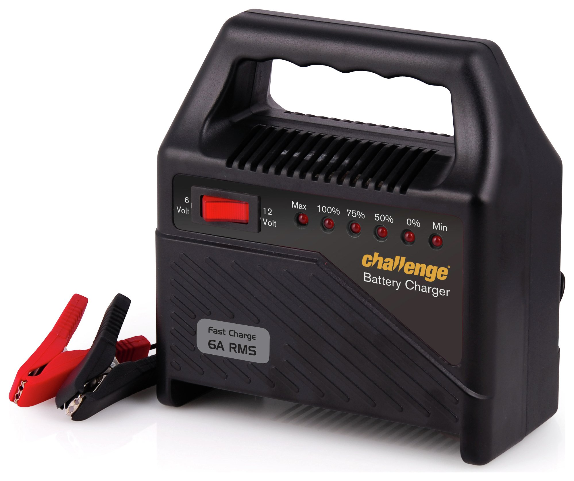challenge 6 amp 12v automatic car battery charger. Black Bedroom Furniture Sets. Home Design Ideas