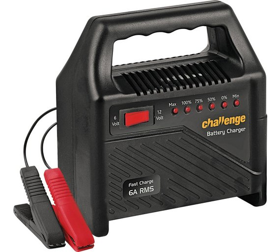 buy challenge 6 amp 12v automatic car battery charger at argos co play video