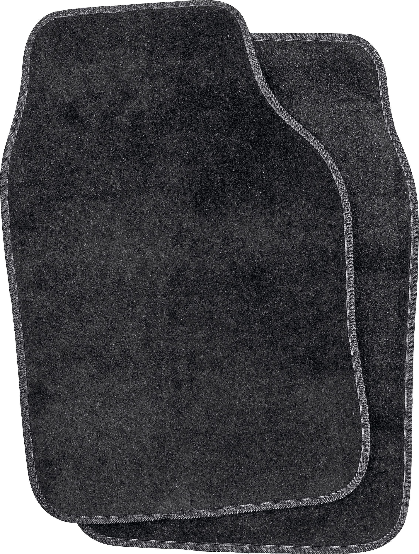 Universal Carpet Car Mat Pair - Black