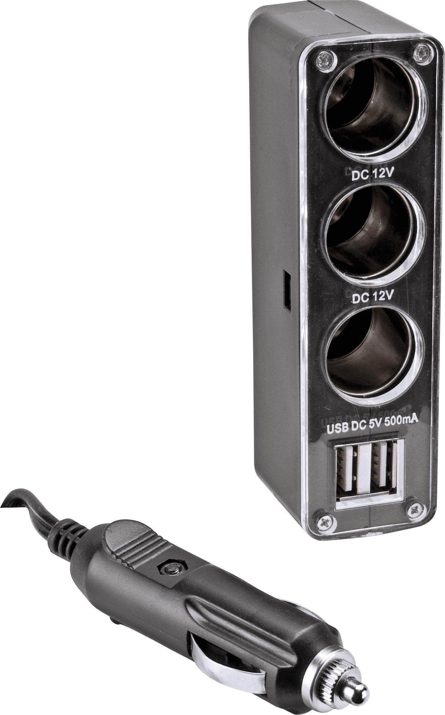 Streetwize 12V Triple Power Twin USB Car Adaptor