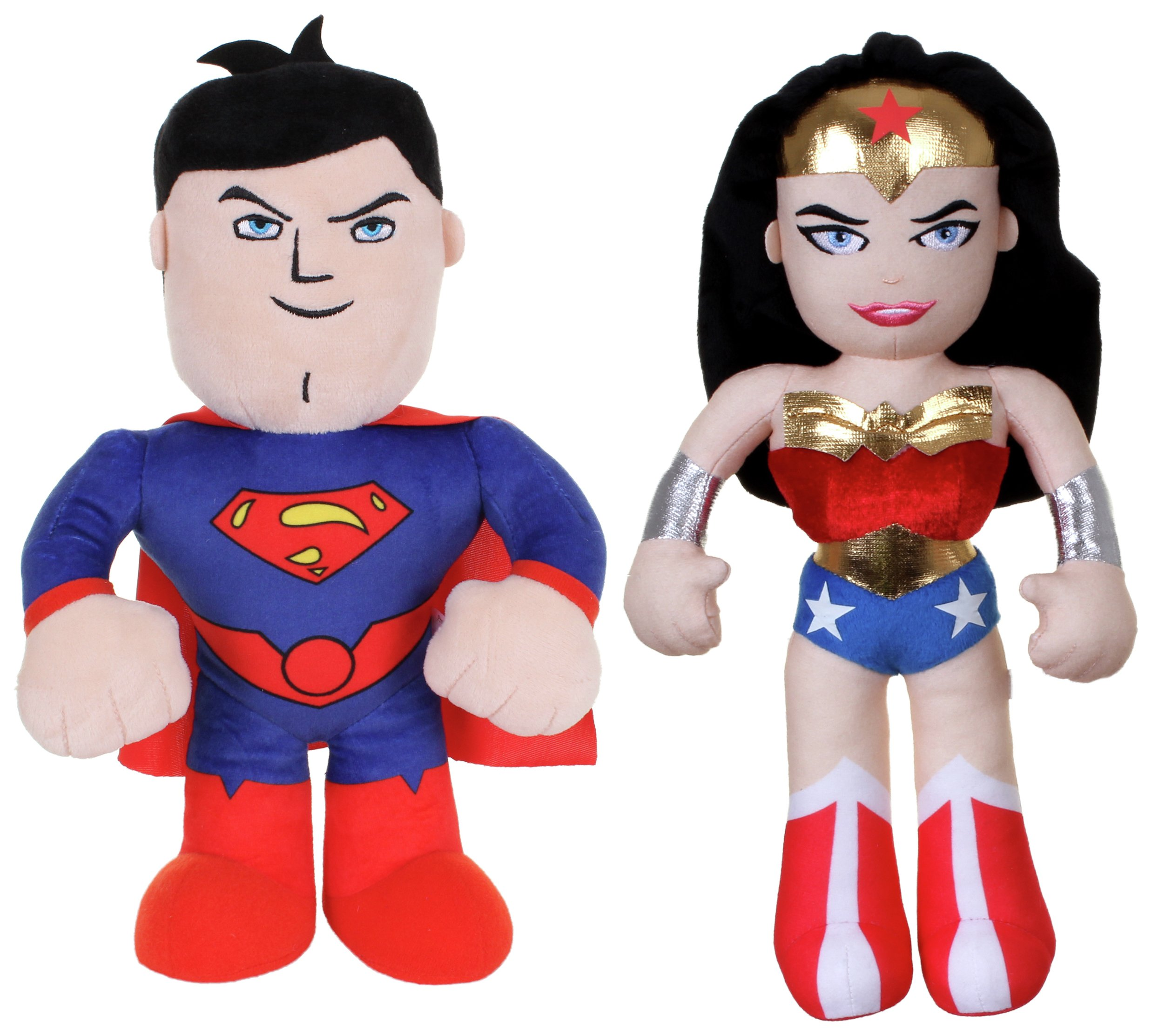 DC Super Friends Talking Superman & Wonder Woman Soft Toys.