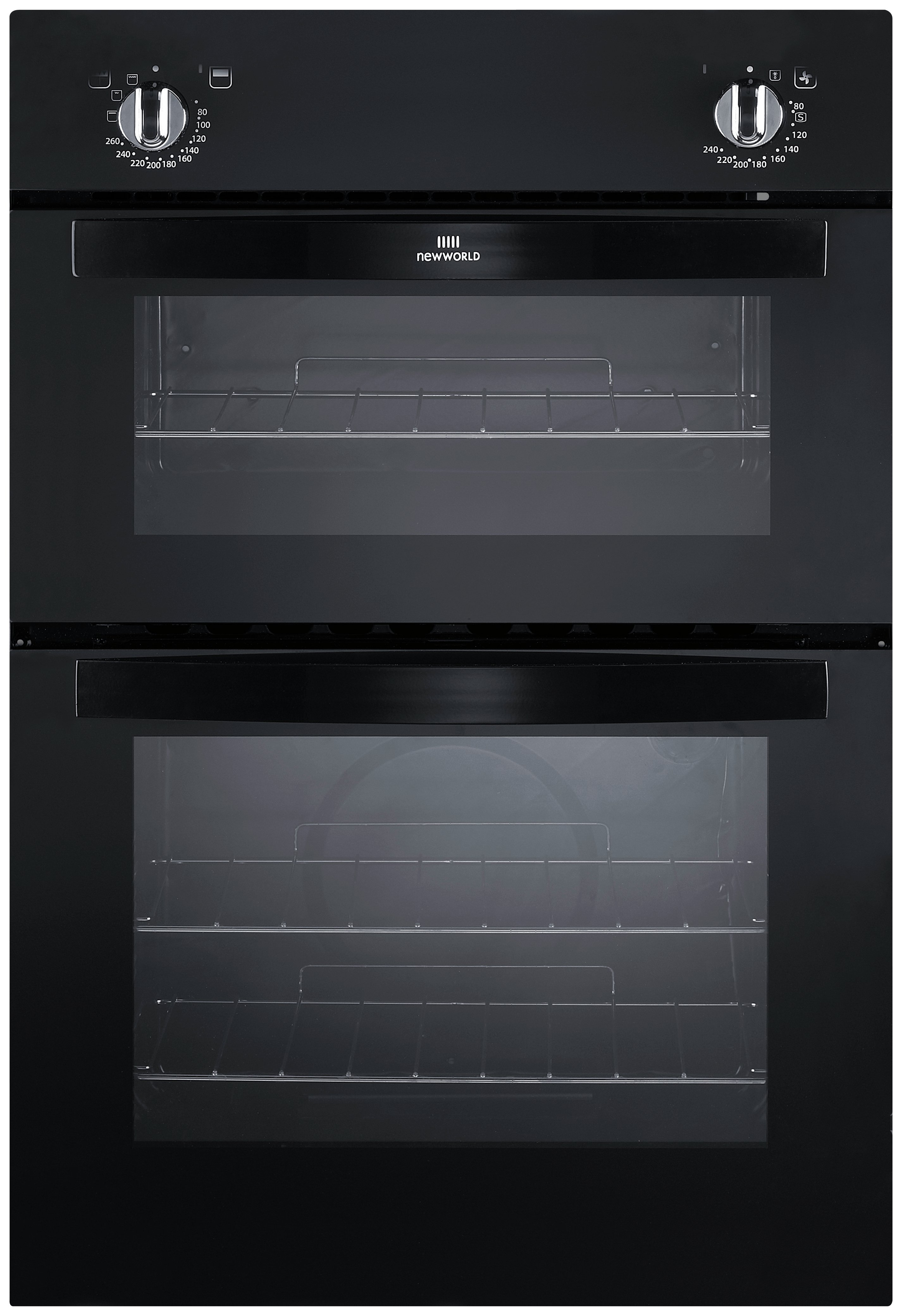 New World NW901DO Built-in Double Oven - Black.