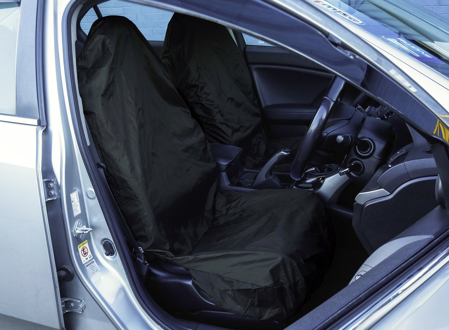 Streetwize Water Resistant 2 Front Car Seat Covers – Black