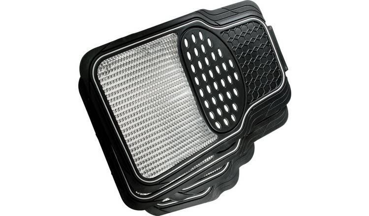 Streetwize Set of 4 Heavy Duty Car Mats - Black.