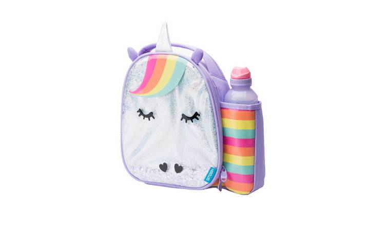 Glitter Unicorn Lunch Bag and Bottle - 500ml