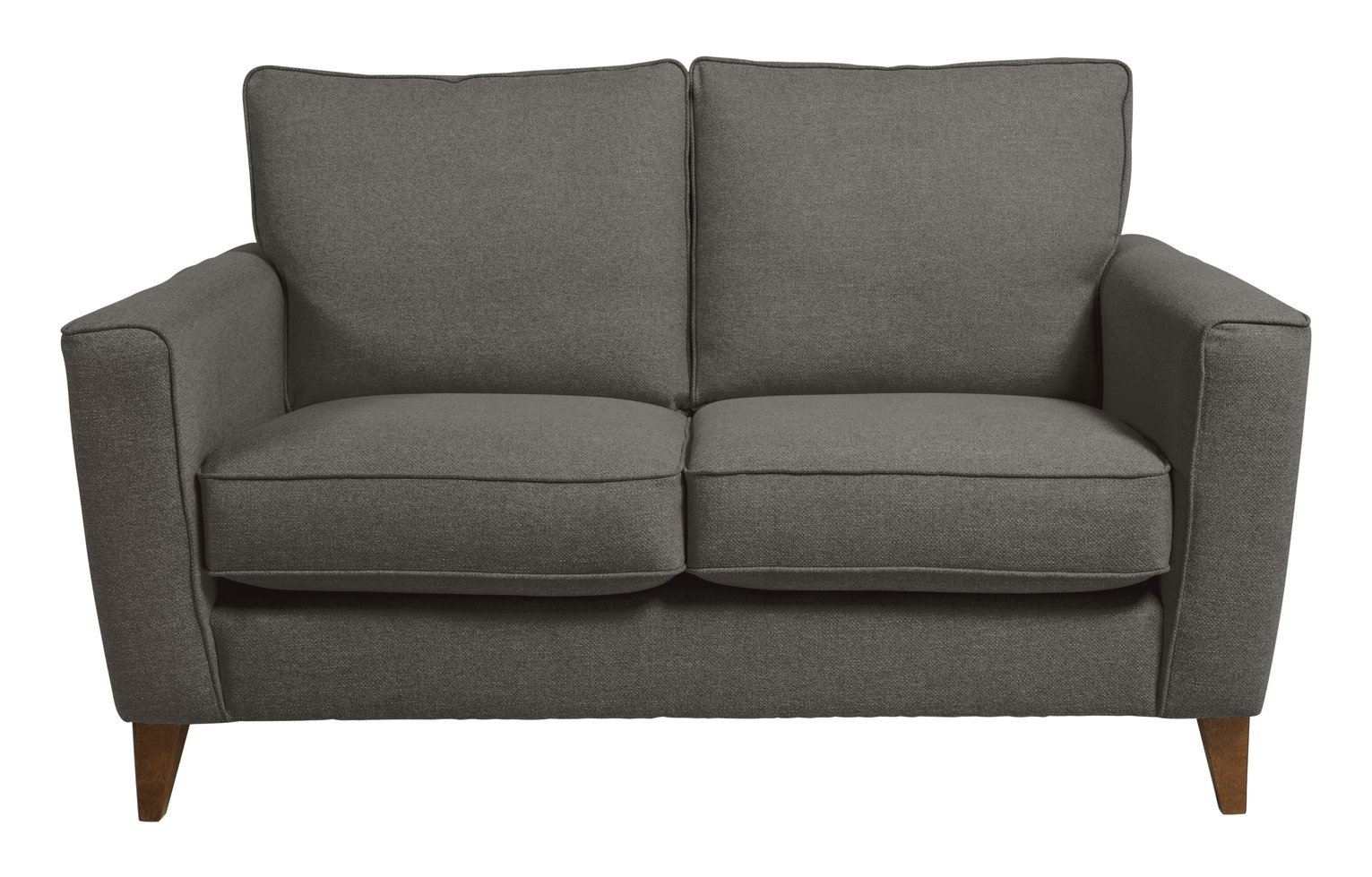 Argos Home Aspen 2 Seater Fabric Sofa - Charcoal