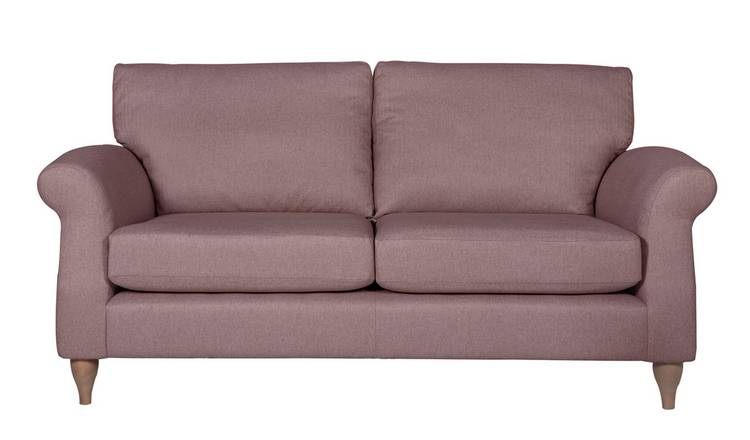 Argos Home Bude 3 Seater Fabric Sofa - Pink