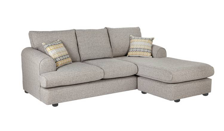 Habitat Atticus Right Corner Fabric Chaise Sofa - Grey
