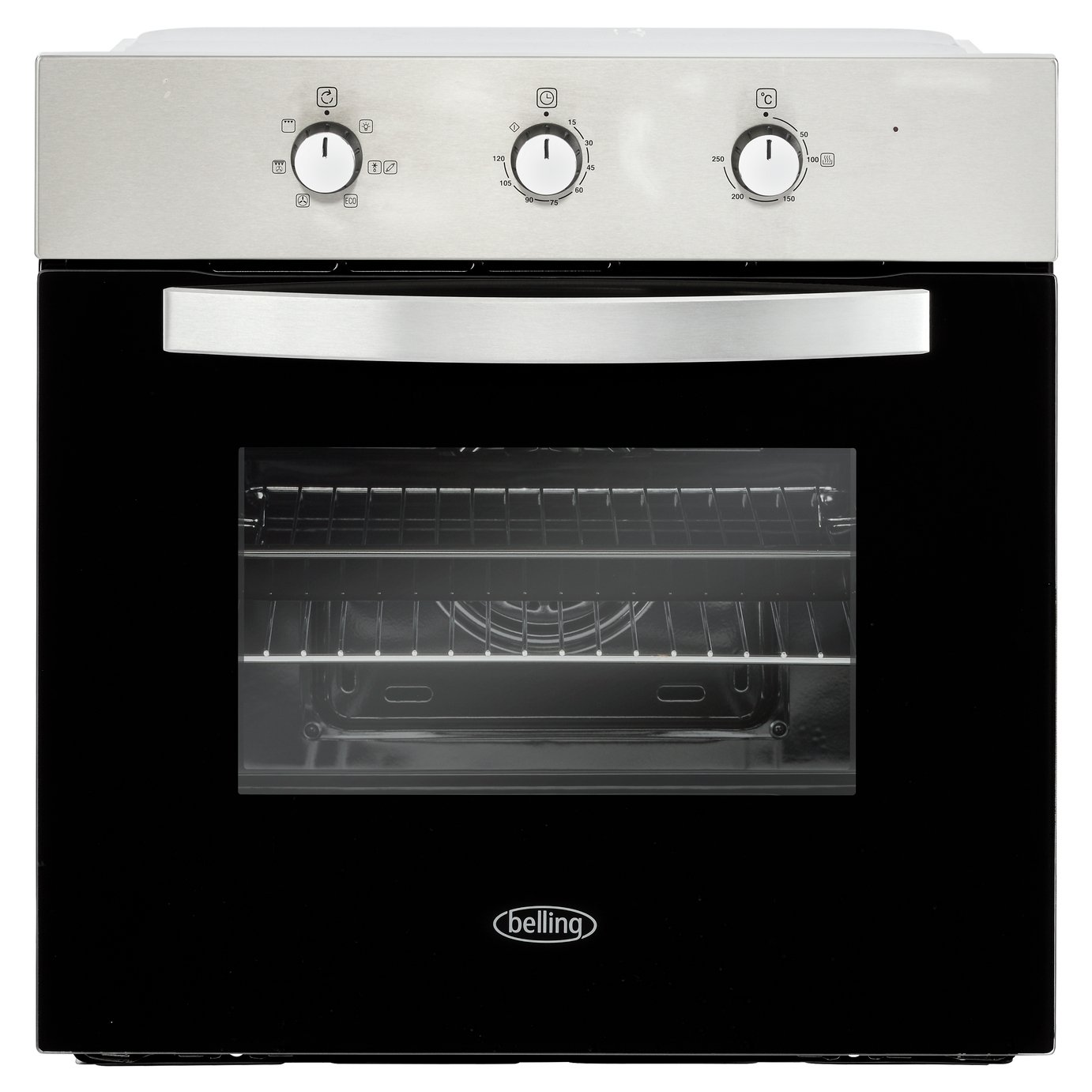 Belling 444410812 BI602MM Multifunction Electric Built-in Single Oven With Timer - Stainless Steel