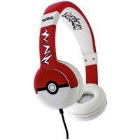 Pokemon Pokeball Kids On-Ear Headphones - Black / Red