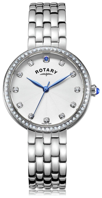 Rotary Ladies' Semi Precious Stone Set Stainless Steel Watch