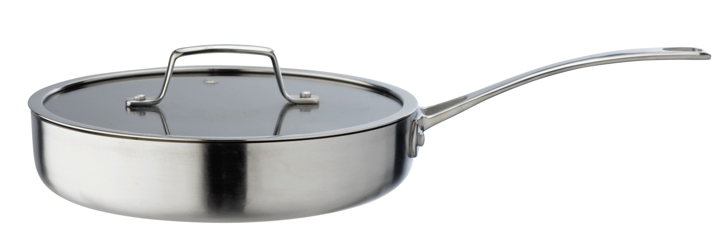 Image of Sainsbury's Home Cooks Collection 24cm Triply Saute Pan
