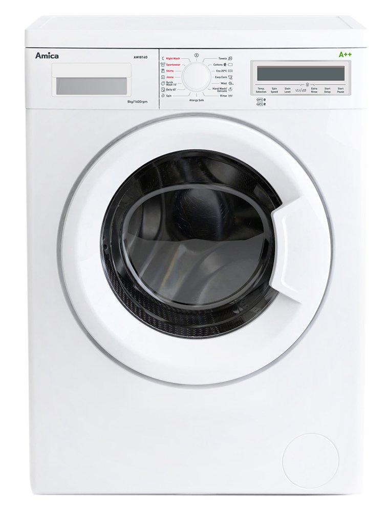 Image of Amica AWI814D 8KG 1400 Spin Washing Machine - White.