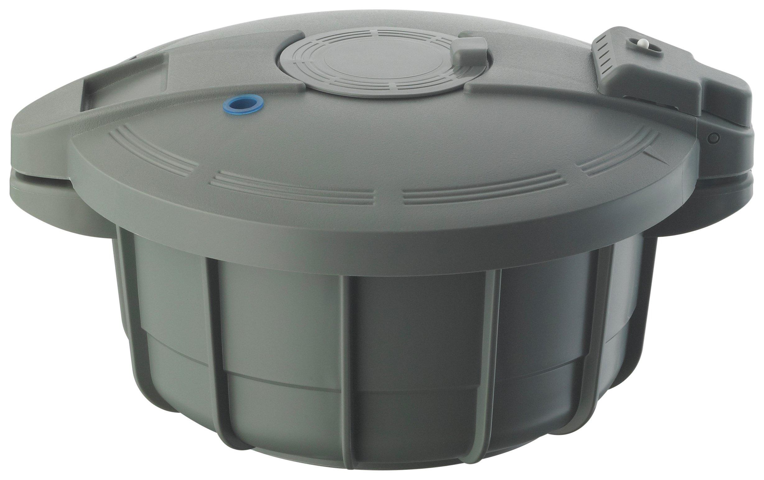Image of Prestige Microwave 2.2L Pressure Cooker - Grey.