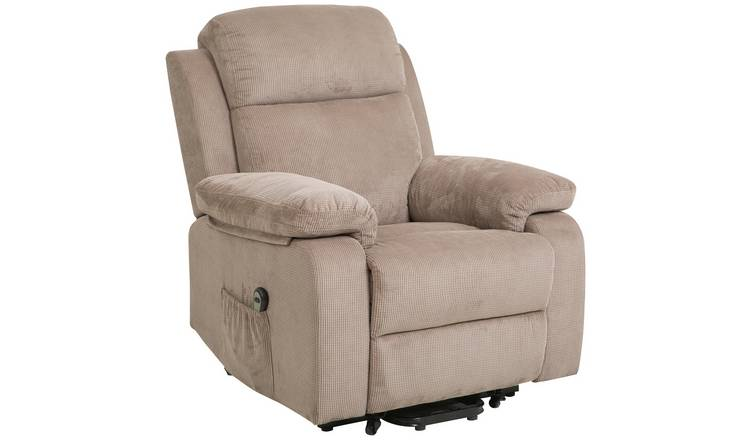 Buy Argos Home Bradley Fabric Natural Riser Recliner