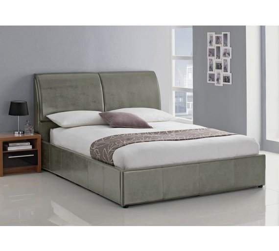 Buy Hygena Vince Double Ottoman Bed Frame Grey Bed