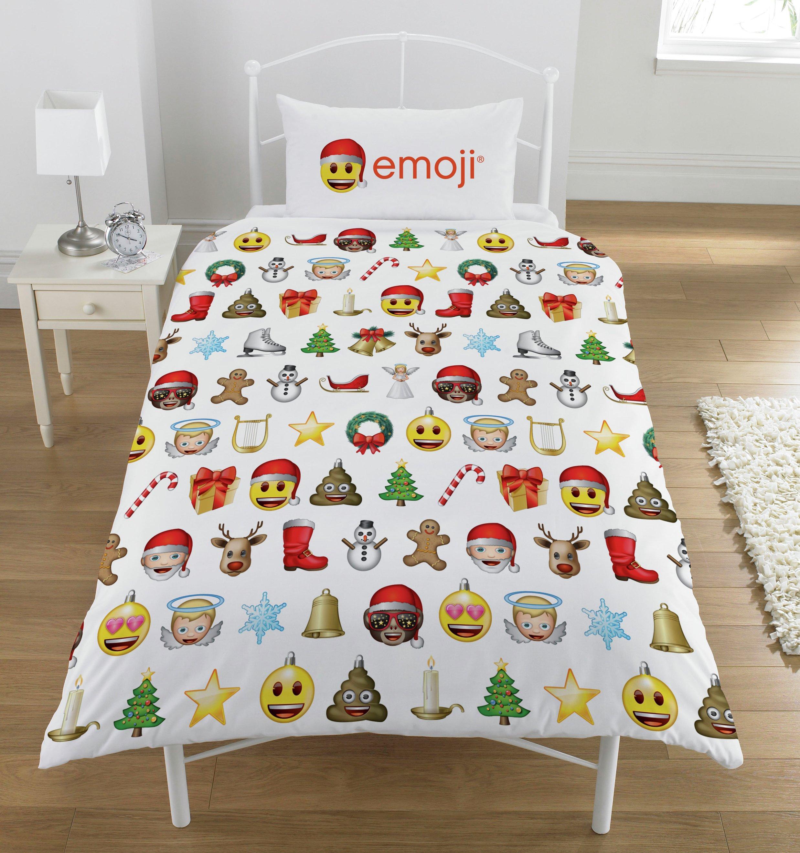Emoji Christmas Duvet Cover Set - Single